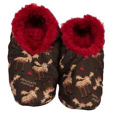 LazyOne Unisex Chocolate Moose Fuzzy Feet Slippers Adult