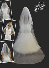 2 In 1 Veil Detachable Waist & Cathedral Length With Crystal Bridal Veil Wedding