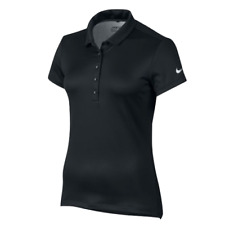 New Genuine Nike Golf Women's Precision Texture 1 Black Polo Shirt  Size M UK 12