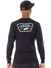 Camiseta de manda larga Vans Full Patch Back Negro-blanco