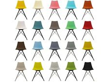 Tulip Scandi Style Modern Plastic Side dining chair with Chrome or Black legs