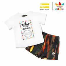 girls adidas Originals infants kids Pharrell Williams t-shirt & shorts set boys