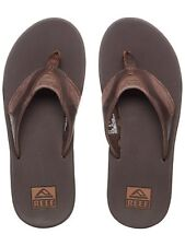 Chanclas Reef Leather Fanning Marron