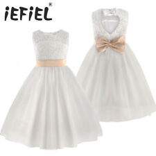 Brand New Flower Girl Dresses White/Ivory Real Party Pageant Communion