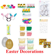 EASTER DECORATIONS Eggs Chicks Arts Crafts Gifts Bags Basket Bunny Rabbit Fill