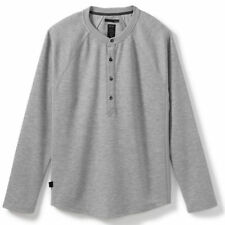 Oakley Icon Henley Mens T-shirt Long Sleeve - Heather Grey All Sizes
