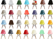 SCANDI STYLE Dining Chair Retro Plastic seat with WALNUT or NATURAL WOOD Legs!