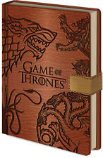 Game of Thrones Sigils Premium A5 Notebook Jon Snow Daenerys Targaryen Stark