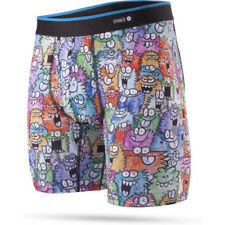 Stance The Boxer Brief Poly Blend Mens Underwear Shorts - Monster Party Bb Multi