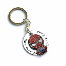 Personalised Father's Day Gift Superhero Keyring for Dad Personalised Keyring