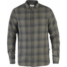 Fjallraven Ovik Flannel Hommes Chemise - Stone Grey Toutes Tailles