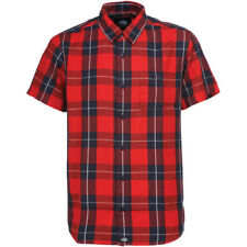 Dickies Lockesburg Hommes Chemise à Manche Courte - Red Toutes Tailles