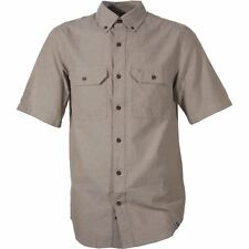 Carhartt Workwear Fort Solid Hommes Chemise à Manche Courte - Dark Tan Chambray