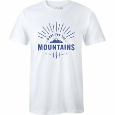The Level Collective Made For Mountains Unisexe T-shirt à Manche Courte - White