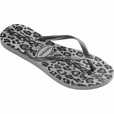 Havaianas Slim Animals Femmes Chaussures Tongs - Grey Toutes Tailles