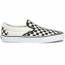 Vans Classic Unisexe Chaussures Mocassins - White Black Checkerboard