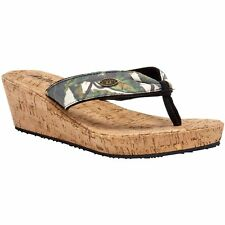 Animal Susie Femmes Chaussures Tongs - Leaf Green Toutes Tailles