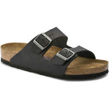 Birkenstock Arizona Soft Footbed Oiled Leather Femmes Chaussures Tongs - Black