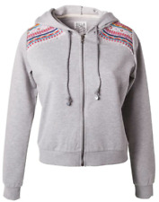 Billabong Let It Slide Sudadera Con Cremallera/Jersey Capucha en gris bordado