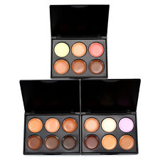 Color 6 Makeup Foundation Face Beauty Concealer Cream Palette With Bursh QD
