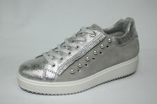 Sneakers Igi&co 1148722 argento zeppa 3cm Made in Italy listino €84,90 - 20%