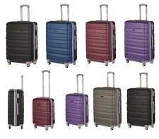 4 Wheel Hard shell Spinner ABS Suitcase Luggage Trolley Travel Case Cabin