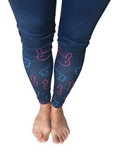 Womans Full Length Fitness Workout Yoga Leggings. Bunnies and Bears Print