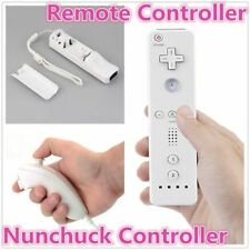 Remote And Nunchuck Controller Set For Nintendo Wii Game + Strap For Remote BD