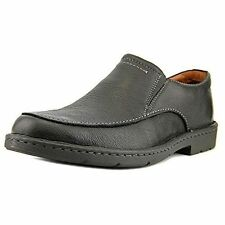 Clarks Uomo Stratton FACILE nere in pelle ballerine UK 9,10, 10.5, 11 G