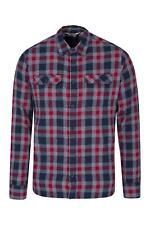 Mountain Warehouse Mens Lightweight Shirt 100% Cotton Breathable with Pockets