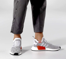 Adidas NMD R2 PK Primeknit Grey/White/Orange [BY9410] UK 9 10 10.5