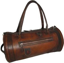 Pratesi borsone da viaggio in pelle con manici italian leather luggage bag