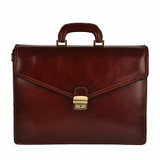 Pellevera borsa portadocumenti in pelle briefcase laptop italian leather bag