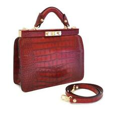 Pratesi borsa donna a mano e tracolla in pelle italian leather women handbag