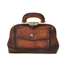 Pratesi borsa donna dottore in pelle a mano tracolla doctor bag italian leather