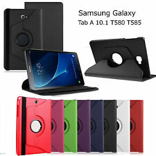 New Samsung Galaxy Tab A T580 360 Rotation Leather Case Cover For T585 Tab A 10""
