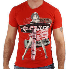 REDBRIDGE BY CIPO & Baxx Party Camiseta Hombre r-1548 ROJO
