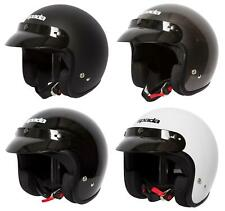 Spada Open Face Motorcycle Motorbike Scooter Helmet with Removable Peak