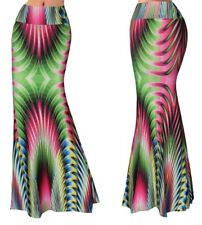 Gonna Lunga Donna Maxi Fantasia Multicolor Woman Maxi Colourful Skirt 130058 P