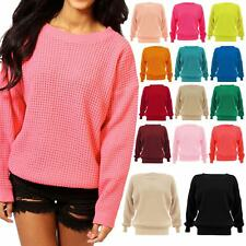 Women Baggy Chunky Knitted Jumper Ladies Warm Pullover Stretch Oversized Sweater