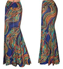 Gonna Lunga Donna Maxi Fantasia Multicolore Woman Maxi Colourful Skirt 130060 P