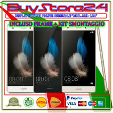 VETRO DISPLAY LCD TOUCH SCREEN HUAWEI P8 LITE  ORIGINALE + FRAME +KIT SMONTAGGIO