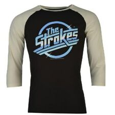 Official The Strokes MAGLIETTA T-SHIRT T-SHIRT MANICA LUNGA UOMO Top Raglan 8122