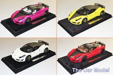Mansory Ferrari 458 Siracusa Red, Yellow, White, Pink - Ltd 20 pcs BBR 1/18