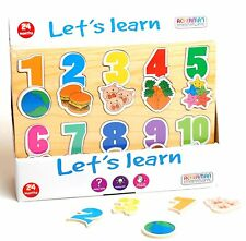 Wooden Alphabet ABC Letters&NUMBERS  Puzzle Board Educational Toys