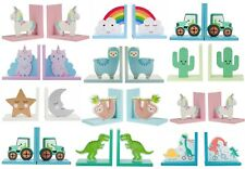 Childrens Bookends Nursery Home Boys Girls Kids Book Ends Unicorn Cloud Gift