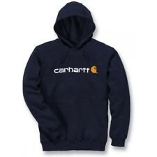 Carhartt Workwear Signature Logo Midweight Hommes Sweat à Capuche - New Navy