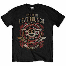 Ufficiale Unisex Uomo Five Finger Death Punch Badge of Honour FASCIA