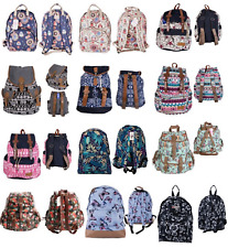 Ladies & Girls Backpacks Travel Bags Printed Shoulder Rucksack Handbags