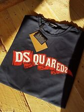 DSQUARED2 CAMP 1985 FLAG TSHIRT NAVY